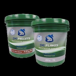 5lb PE Bucket of Freshwater Pellets (3mm) + FREE 1lb PE Bucket of Freshwater Flakes