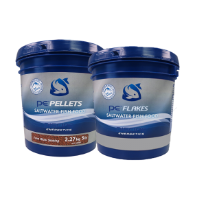 5lb PE Bucket of Saltwater Pellets (1mm) + FREE 1lb PE Bucket of Saltwater Flakes