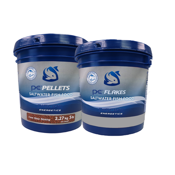 5lb PE Bucket of Saltwater Pellets (1mm) + FREE 1lb PE Bucket of Saltwater Flakes