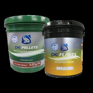 5lb PE Bucket of Freshwater Pellets (1mm) + FREE 1lb PE Bucket of Goldfish Flakes